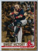2019 Topps Series 2 Baseball Memorial Day Camo Sweet Victory Boston Red Sox /25
