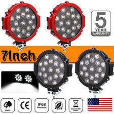 7inch 510W OffRoad Led Lights Bull Bar Driving Pods ATV Motor Bike Red/Black US