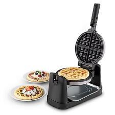 Macchina Waffle Girevole Classica Cialde Dolci Pancakes Piastra Belgi Waffel