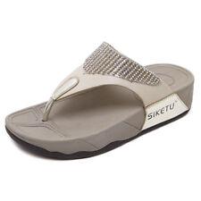 women flat cushion sole bow diamente slider flipflop summer beach party shoes