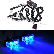 16 LED Strobe Flash Lights Dash Car Truck Emergency Flashing Warning Light Blue