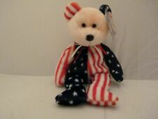 Spangle Ty Beanie Baby Pink Face Patriortic America Bear MWMT DOB July 14 1999
