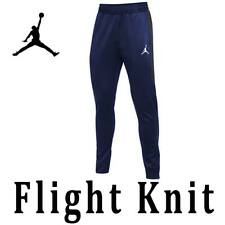 "NIKE AIR TEAM JORDAN FLIGHT KNIT PANTS ""ENGINEERED"" ANKLE ZIP 924709 BLUE RED"
