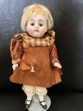 """Antique All Bisque Mignonette - Glass Eyes -Dollhouse Doll 5.5"""" 160?"""
