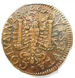 1667 France Jeton Coin - Certified PCGS XF Details (EF) - Rare Coin!