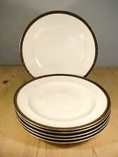 Royal Worcester Blue & Gold Border 1896 Six Dinner Plates W4988