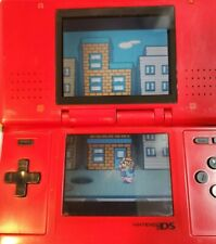 Nintendo DS NTR-001 Original Red Handheld System w/ Charger, Stylus,, NO Game