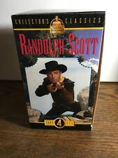 New (sealed)Randolph Scott Western Collection (4 VHS Tapes)