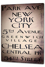 Tin Sign XXL City  Streets of New York