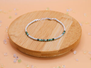 Turquoise Sterling Silver Bracelet Stackable Gemstone Fashion Jewellery Gift
