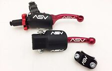 ASV F3 Shorty Holiday Pro Pack Unbreakable Clutch Brake Levers Red CRF 450R 250R