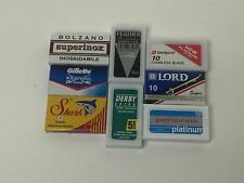 55 blade DE sampler, NIP, razor blades, lot, Feather, Persona, Gillette, & more