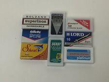 55 blade DE sampler, NIP, razor blades, lot, Feather, Persona, Gillette, & more
