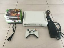 Xbox 360 Console Bundle, 10 Games, Controller 20GB Hard Drive HDMI Power Supply