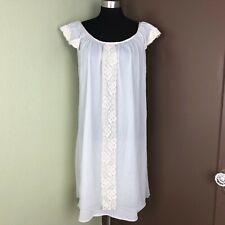 Vintage Erica Loren Womens White Peignoir Nightdress Nightgown Medium Large