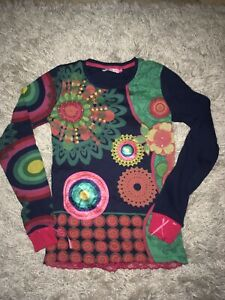 Pull Manches Longues DESIGUAL 13-14 Ans Neuf