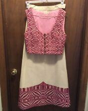 Vtg Handwoven Fabric Skirt & Vest Gorgeous!