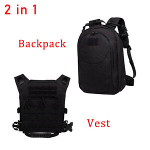 2in1 Tactical Molle Function Multi-combination Backpack type Deformation Vest