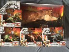 Jurassic World Roarin' Super Colossal Tyrannosaurus T Rex & Battle Damage Dinos