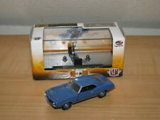 M2 Machines Detroit Muscle 1969 Chevy Camaro ZL1 BLue 1:64