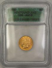 1888 Newfoundland $2 Two Dollar Gold Coin ICG AU-55