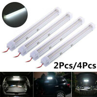 12V 72 LED Interior Light Tube Car Boat White Ceiling Bar Power Cord Lamp White
