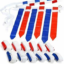 Wyzworks 12 Player 3 Flag Football Set - 12 Belts with 36 Flags [ 18 Red & 18 Bl