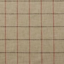 "P KAUFMANN PENCIL ME IN CORAL LARGE CHECK WOVEN MULTUSE FABRIC BY YARD 54""W"