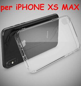COVER per APPLE iPhone XS MAX TRASPARENTE SOTTILE Morbida TPU Slim SILICONE