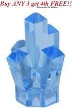 ☀️NEW LEGO TRANS Medium BLUE 5 Point pt Crystal Cave translucent Rock Gem Jewel
