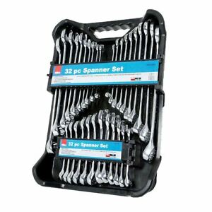 Hilka 32 Piece Spanner Set Stubby Ring Combination AF / Metric Imperial