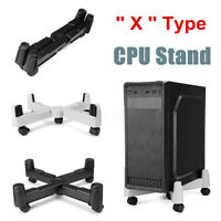 Adjustable PC Computer CPU Stand Tower Holder wit 5 Swivel Mobile Castors