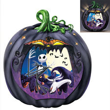 details about bradford exchange nightmare before christmas pumpkin sculpture