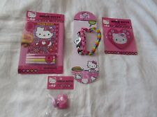 Lot 4 Vtg Hello Kitty Lcd Watch art kit stamps eraser wristband toy Unused