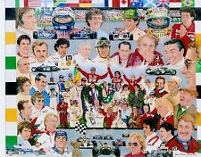 Niki Lauda Michael Schumacher,Ayrton Senna,Mario Andretti,Jim Clark 8 X 10 Photo