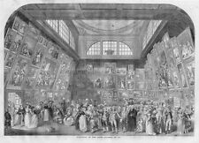 EXHIBITION OF THE ROYAL ACADEMY IN 1787 ART EXHIBIT ARCHITECTURE ARTIST SOCIETY