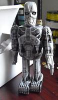 COOL Modern Tin Windup Cyborg Skeleton Robot Toy in Box