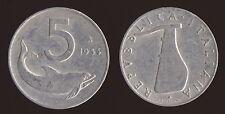 5 LIRE 1954 DELFINO E TIMONE - ITALIA