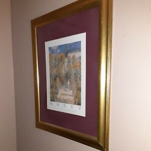 Claude Monet framed print,1800s.