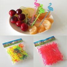 Dishware Flamingo Plastic Picks Fruit Cupcake Food Birthday Party Sticks