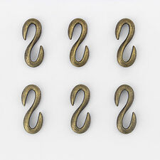 10 x Antique Bronze S Hook Clasp For Bracelet Necklace Jewellery Craft Making