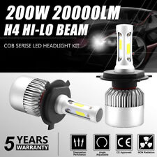 2X H4 9003 200W 20000LM LED Car Conversion Headlight KIT Hi/Low Beam 6000K White