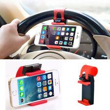 Universal Car Steering Wheel Bike Clip Mount Holder For iPhone For Cell Phones g