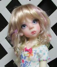 "Doll Wig, Monique Gold ""CJ"" Size 6/7 in Fantasy Color (with LONG bangs**)"