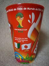 Sammler Bier Becher FIFA Brazil WC 2014 Elfenbeinküste - Japan in Recife