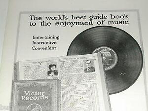 1921  Victor Talking Machine Company advertisement, records Nipper