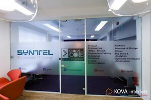 Office Glass partitions by KOVA Partitions