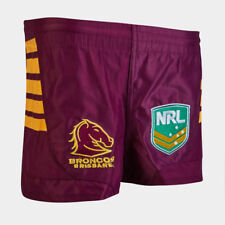 Brisbane Broncos NRL Supporters Replica On Field Footy Shorts Size S-4XL! ISC