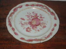 CHINESE EXPORT FAMILLE ROSE PLATE LATE18TH CENTURY painted FLOWERS great DESIGN