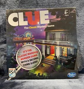 Clue Hasbro Classic Mystery Game with Second Crime Scene Mansion & Boardwalk New